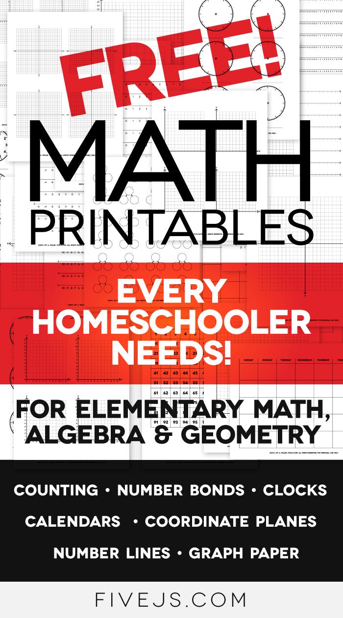 Free Math Worksheet Printables Clocks, Graph Paper
