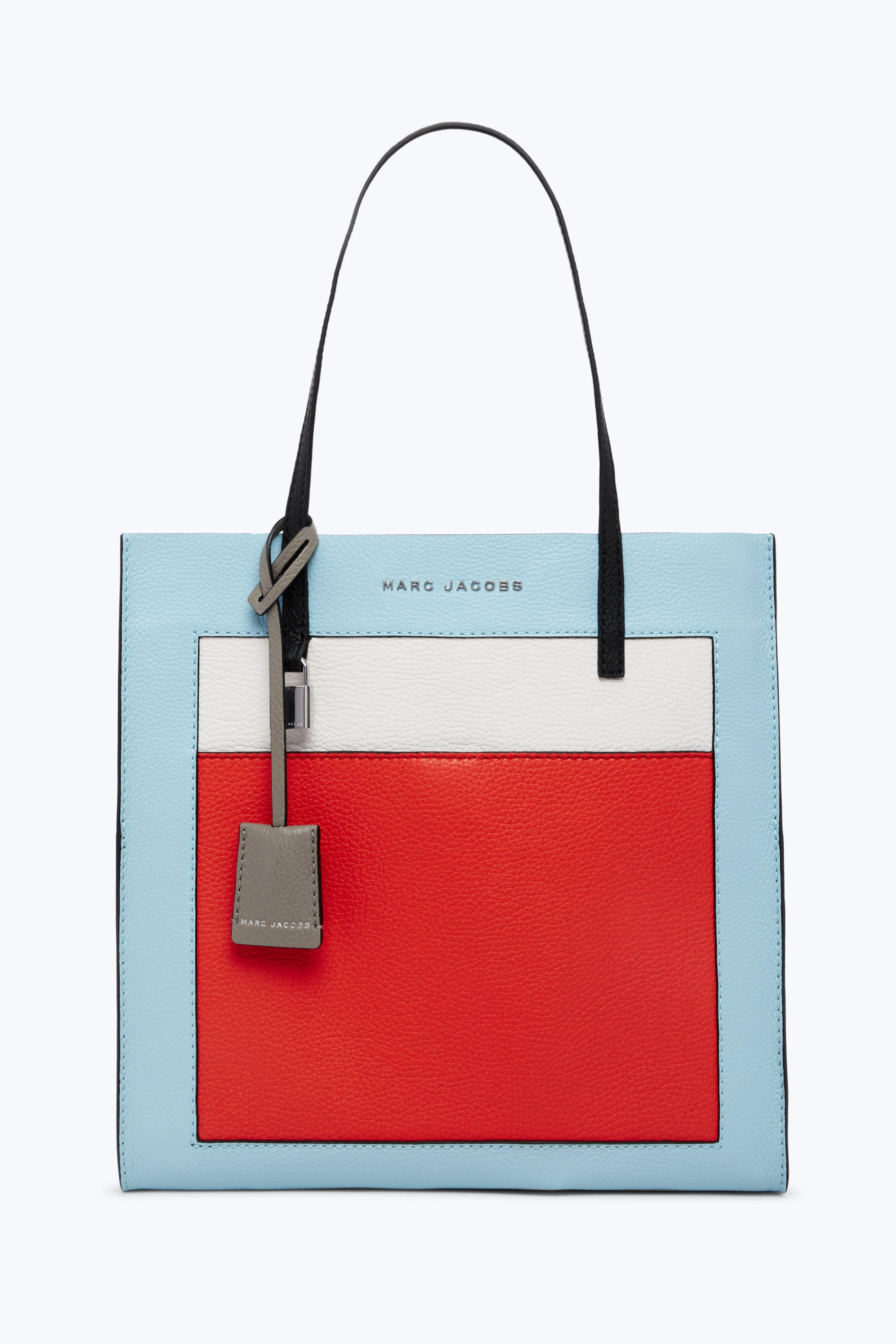 Marc Jacobs The Colorblocked Grind Shopper Tote Bag - Cloud White Multi 228935df7518