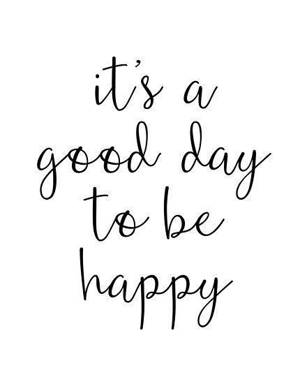 'A Good Day to Be Happy Motivational Quote' Poster by blueskywhimsy