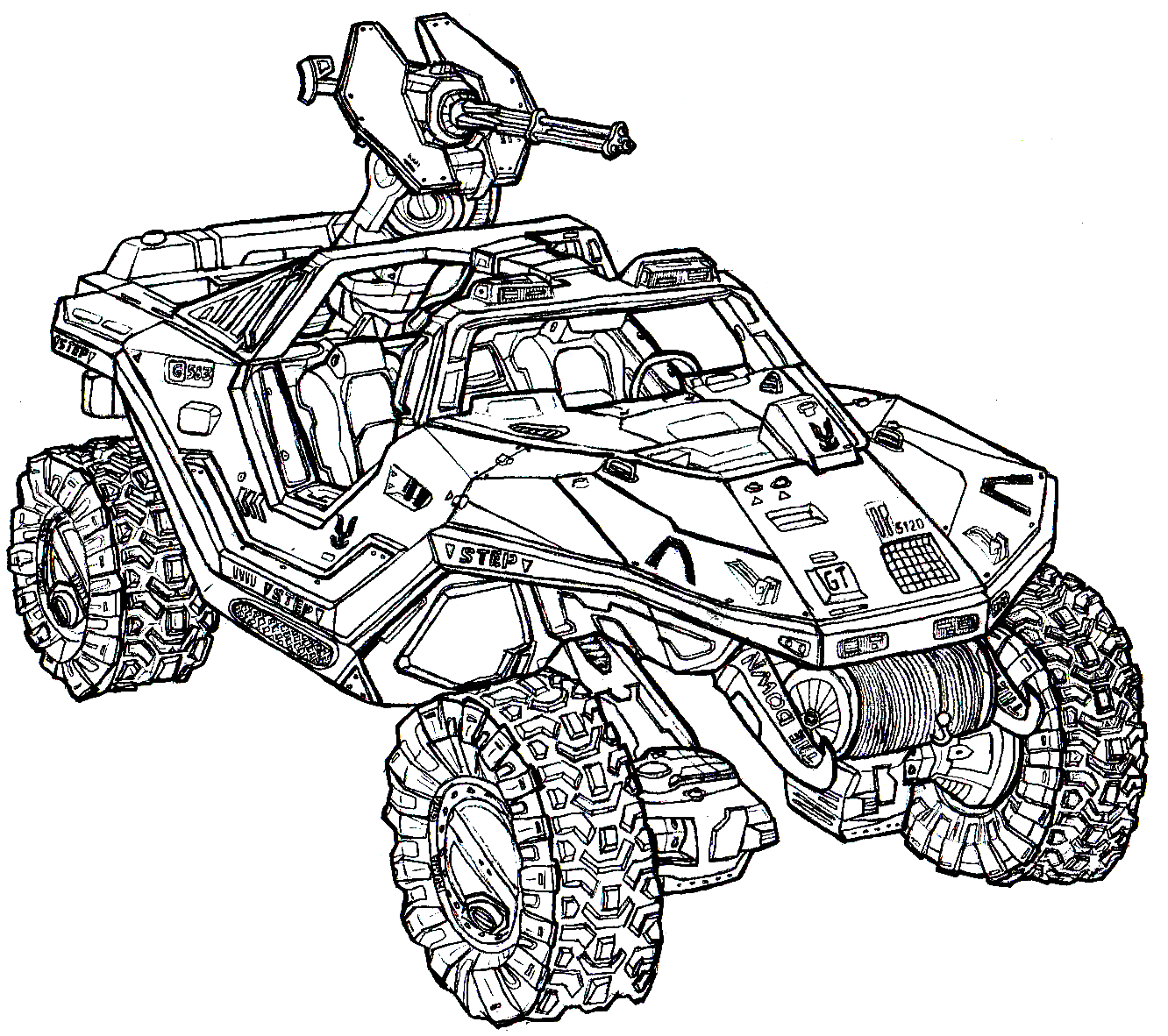 Halo Warthog Coloring Pages Drawing Pictures For Colouring Halo Drawings Pictures To Draw