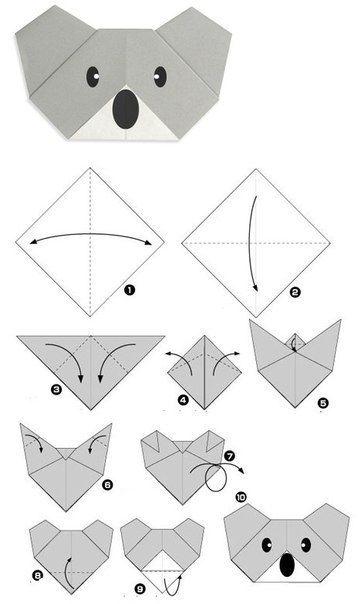 wundersch ne tiere aus papier falten schablonen zum ausdrucken dekoking com 4 origami. Black Bedroom Furniture Sets. Home Design Ideas