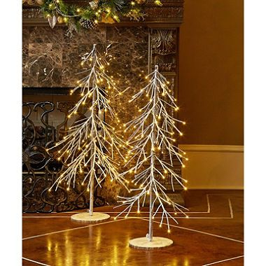 2 pc pre lit led tree set sams club - Sams Club Christmas Decorations