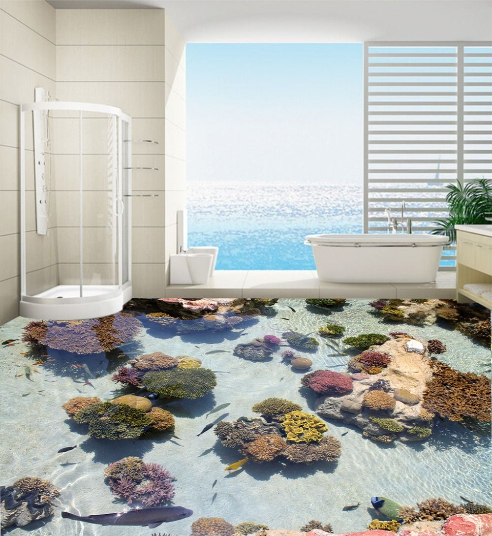 Top 18 Badezimmer Wandmalereien Badezimmerboden Badezimmerdekor Meerjungfrau Fliesen Bathroom Aufkleber Wandaufkl Pvc Bodenbelag Wandtapete Bad Wandbild