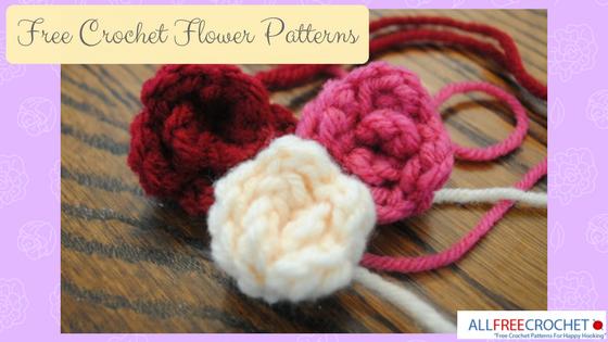 29 Free Crochet Flower Patterns + Crochet Flower Pattern Video ...