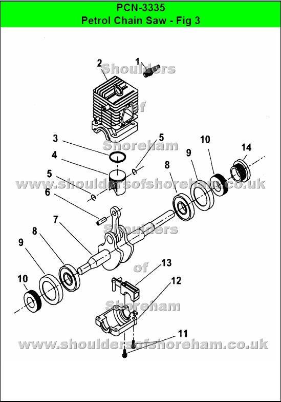 79d0dd5b9a51c416f96ce456a171a896 ryobi pcn 3335 chain saw spares and spare parts ryobi chainsaw
