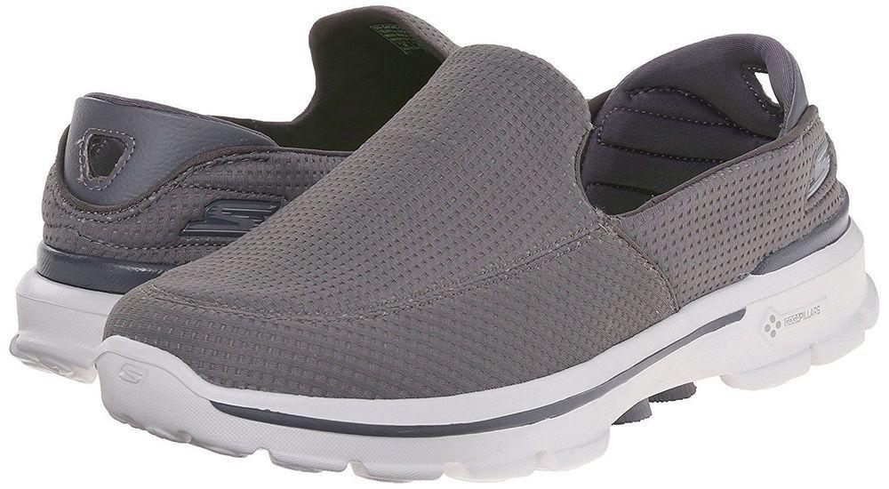 ad06b3b3d5d6 NEW - Skechers Men s Go Walk 3 Slip on Walking Shoe Gray Goga Mat - Pick  Size