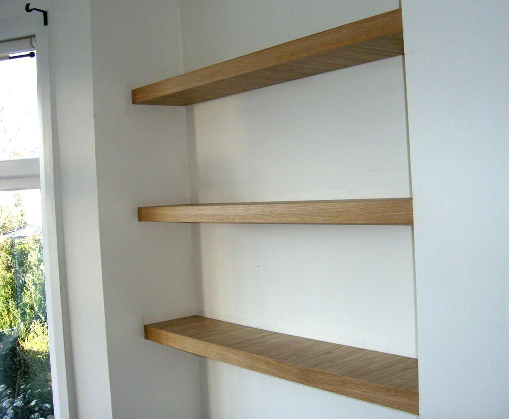 Harcourt Mango Wood Wall Shelves Oak Floating Shelves Floating