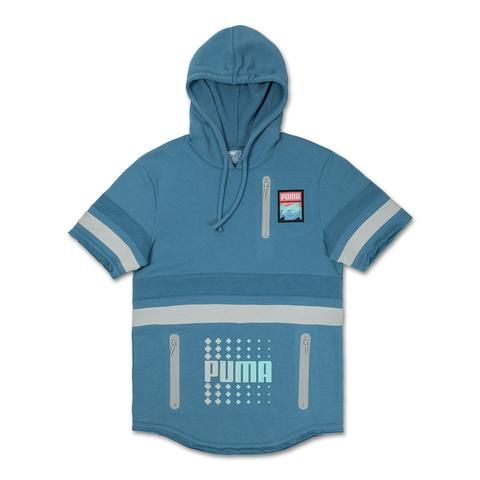 Pink Dolphin X Puma Amplitude Short Sleeve Hoodie In Blue Heaven