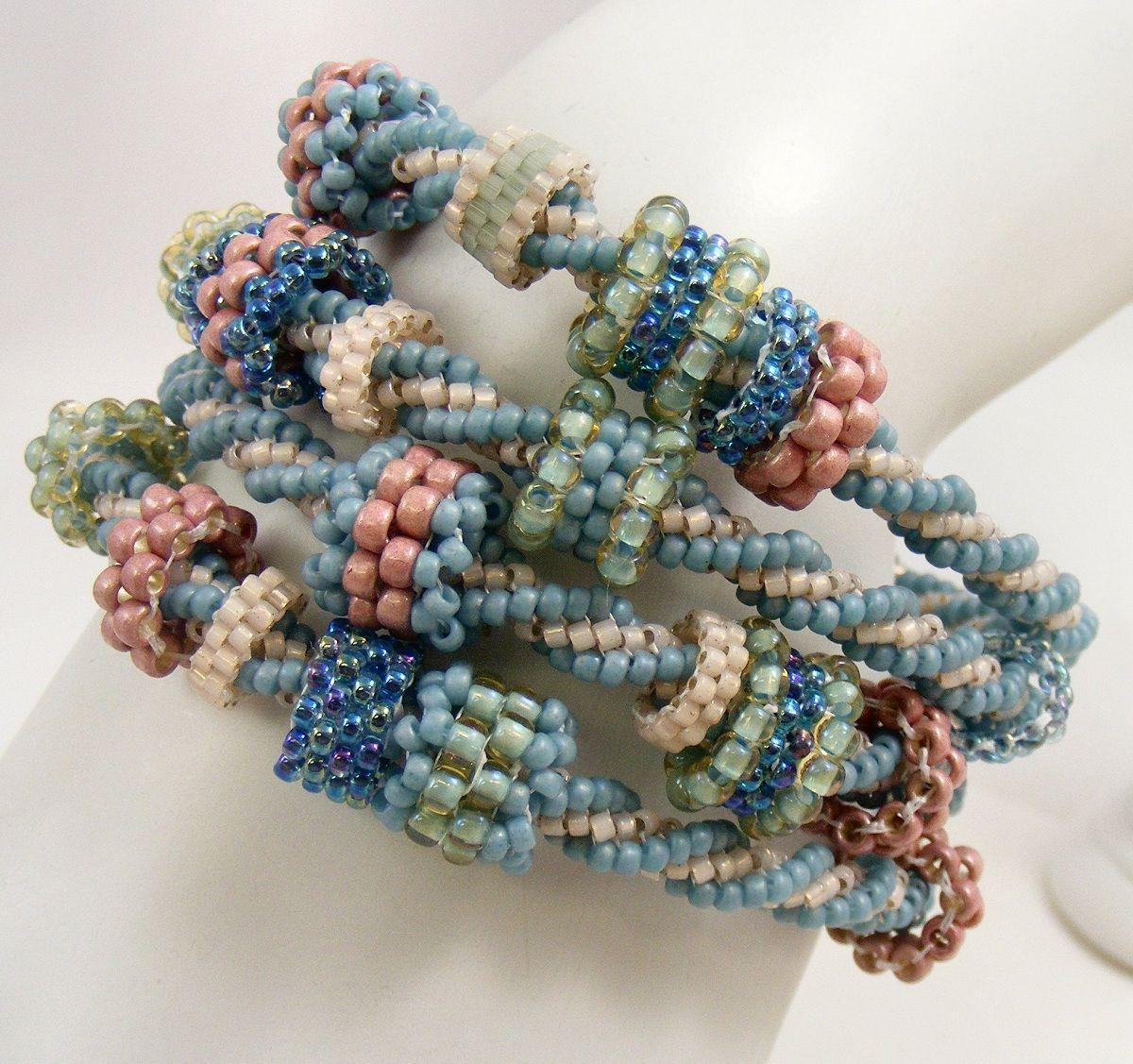 Sweet Freedom Designs: Multistrand Beadwoven Bracelet