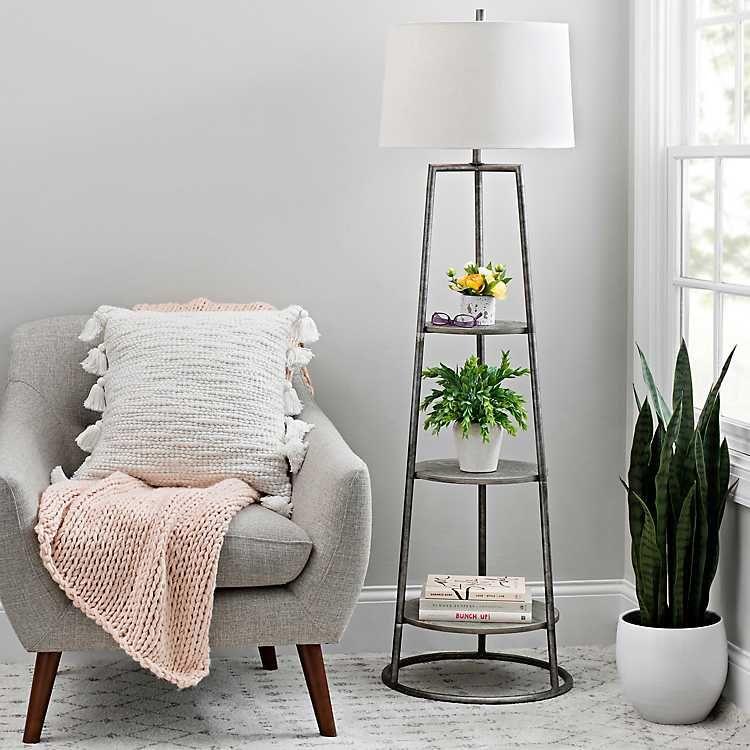 Shelf Floor Lamps In 2020 Lamps Living Room Floor Lamp With Shelves Floor Lamps Living Room