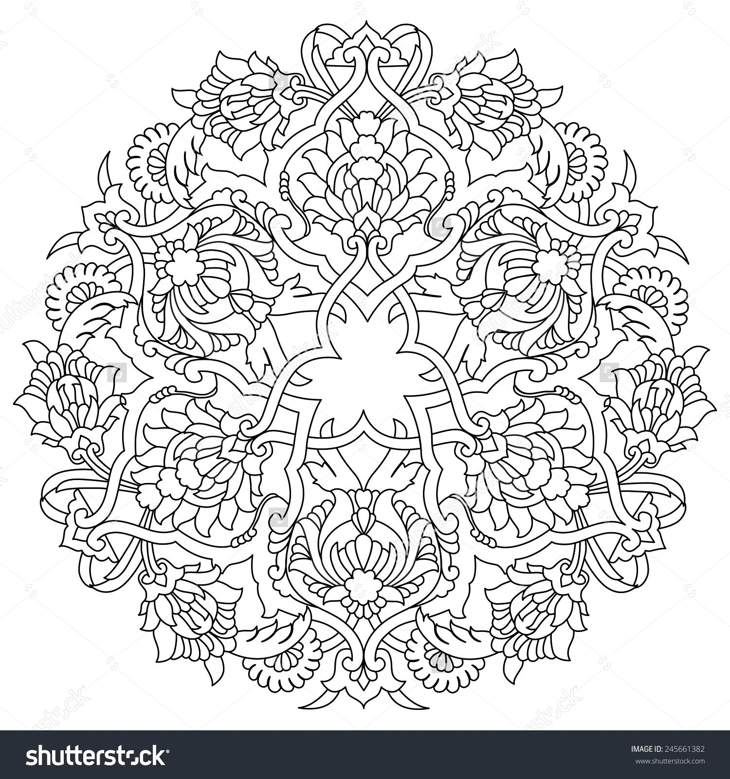 Ornament And Design Ottoman Decorative Arts Stock Vector Illustration 245661382 Islamic Art Pattern Pattern Art Flower Drawing