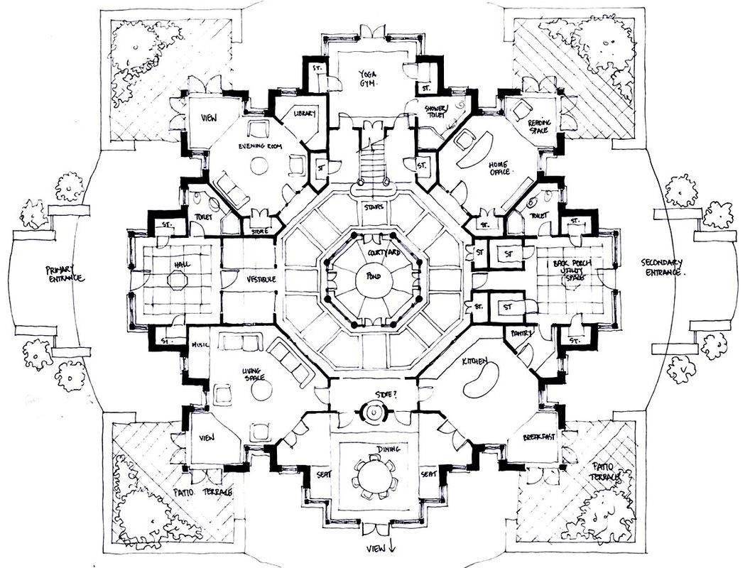 2879579 Orig Jpg 1056 800 Architectural Floor Plans Building Plans House Floor Plan Design