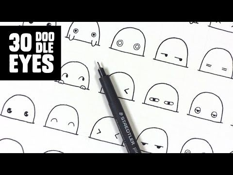 How To Draw Cute Doodle Characters/Cartoons - YouTube