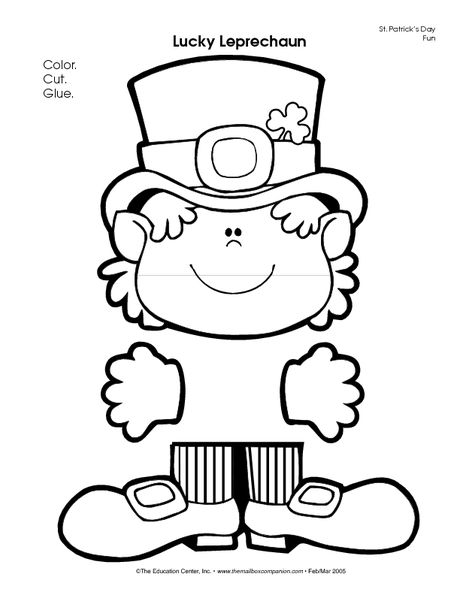 Leprechaun craft | St. Patrick\'s Day | Pinterest | Santa patricia ...