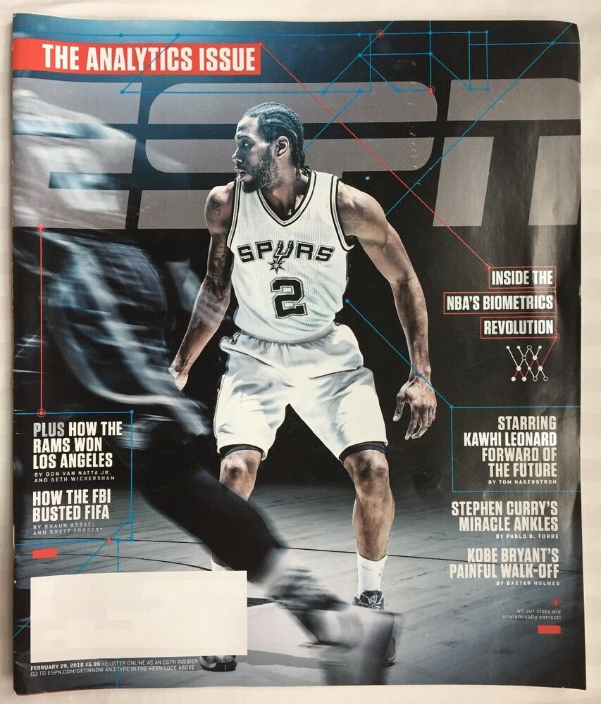 Espn Magazine February 29 2016 New Ship Free The Analytics Issue Kawhi Leonard In 2020 Espn Magazine Espn Sports Advertising