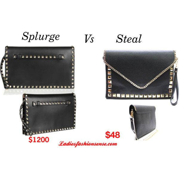 Splurge vs Steal: Valentino Rockstud Clutch by ladiesfashionsense on Polyvore