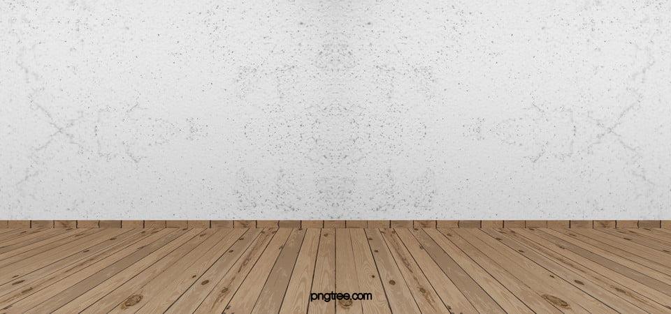 الجدران البيضاء والأرضيات الخلفية المادية Frames On Wall Flooring Wood Texture Background