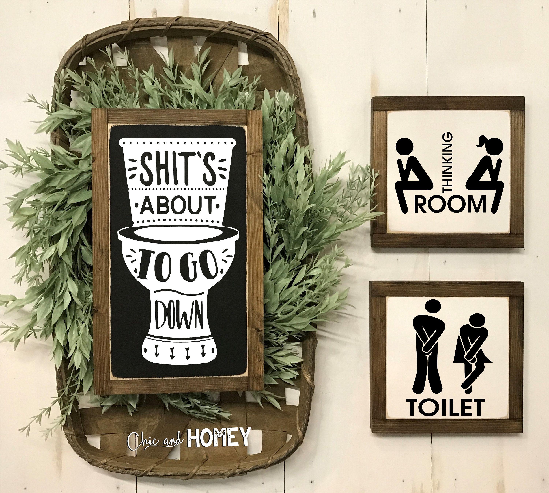 Funny Bathroom Signs Bathroom Wall Decor Kids Bathroom Bathroom