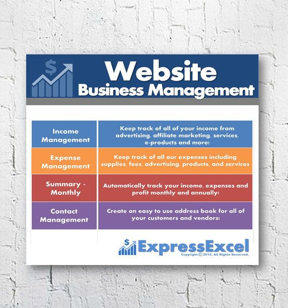 Website Business Management Software Microsoft Excel Spreadsheet