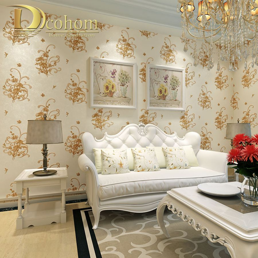 Simple Cozy Pastoral Flower 3D Wallpaper For Walls Decor Embossed