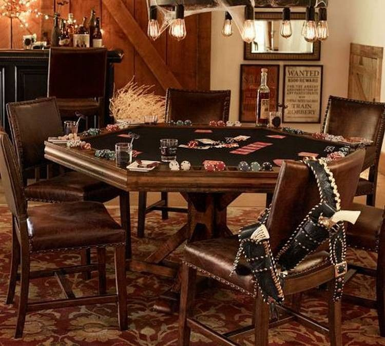 A Poker Table Will Turn Your Man Cave Into A Man Cave 28