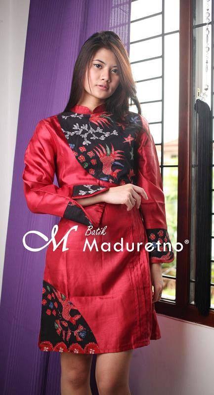 Tunik Batik Kombinasi Gaun