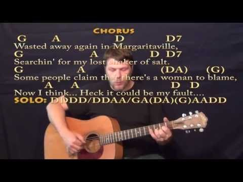 Margaritaville - Fingerstyle Guitar Cover Lesson with Lyrics/Chords ...