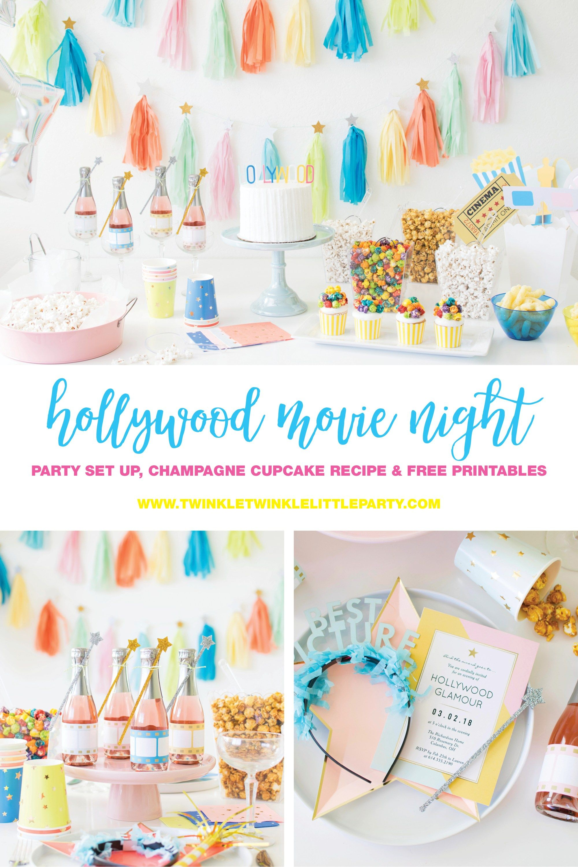 Host a Hollywood Inspired Movie Night Party for the Oscars Night ...