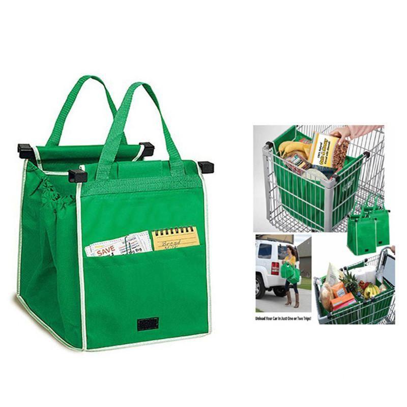 Portable Foldable Handbag Large Capacity Fabric Storage Reusable Shopping Bags