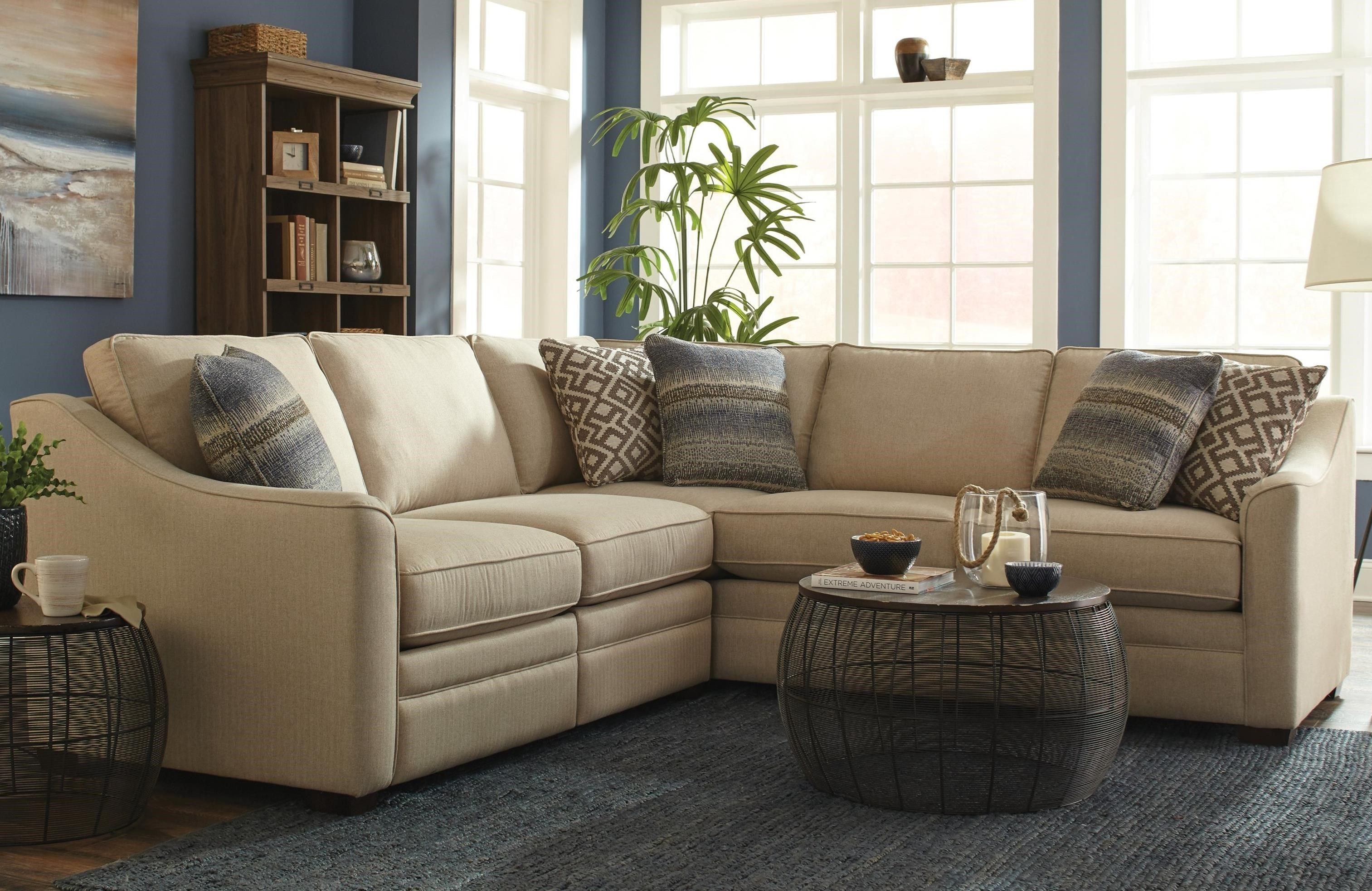 F9 Custom Collection Customizable 2 Piece Sectional With 1 Power Reclining Chair By Hickorycraft At Howell Furniture In 2020 Sectional Sofa With Recliner Craftmaster Furniture Living Room Sectional