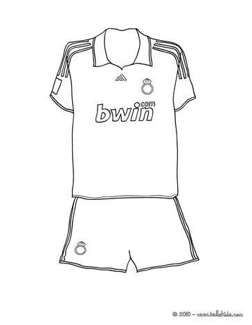 Soccer Shirt Coloring Page Sports Coloring Pages Shirts