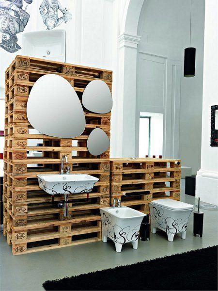 Reforma ba o en piso rehabilitado con estructura de - Estructuras con palets ...