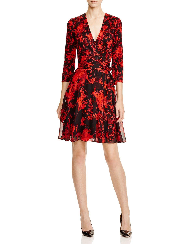 Diane von furstenberg irina floral silk wrap dress bloomingdaleus