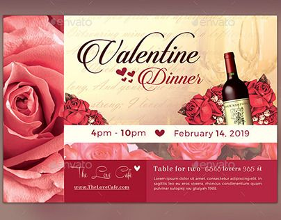 Check Out New Work On My Behance Portfolio Valentine Dinner