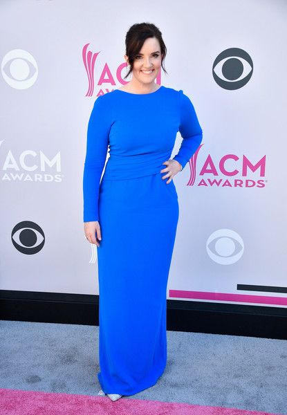 """Brandy Clark: The 41-year old """"Love Can Go to Hell"""" singer-songwriter wore a forward blue gown and shimmery pointy pumps 