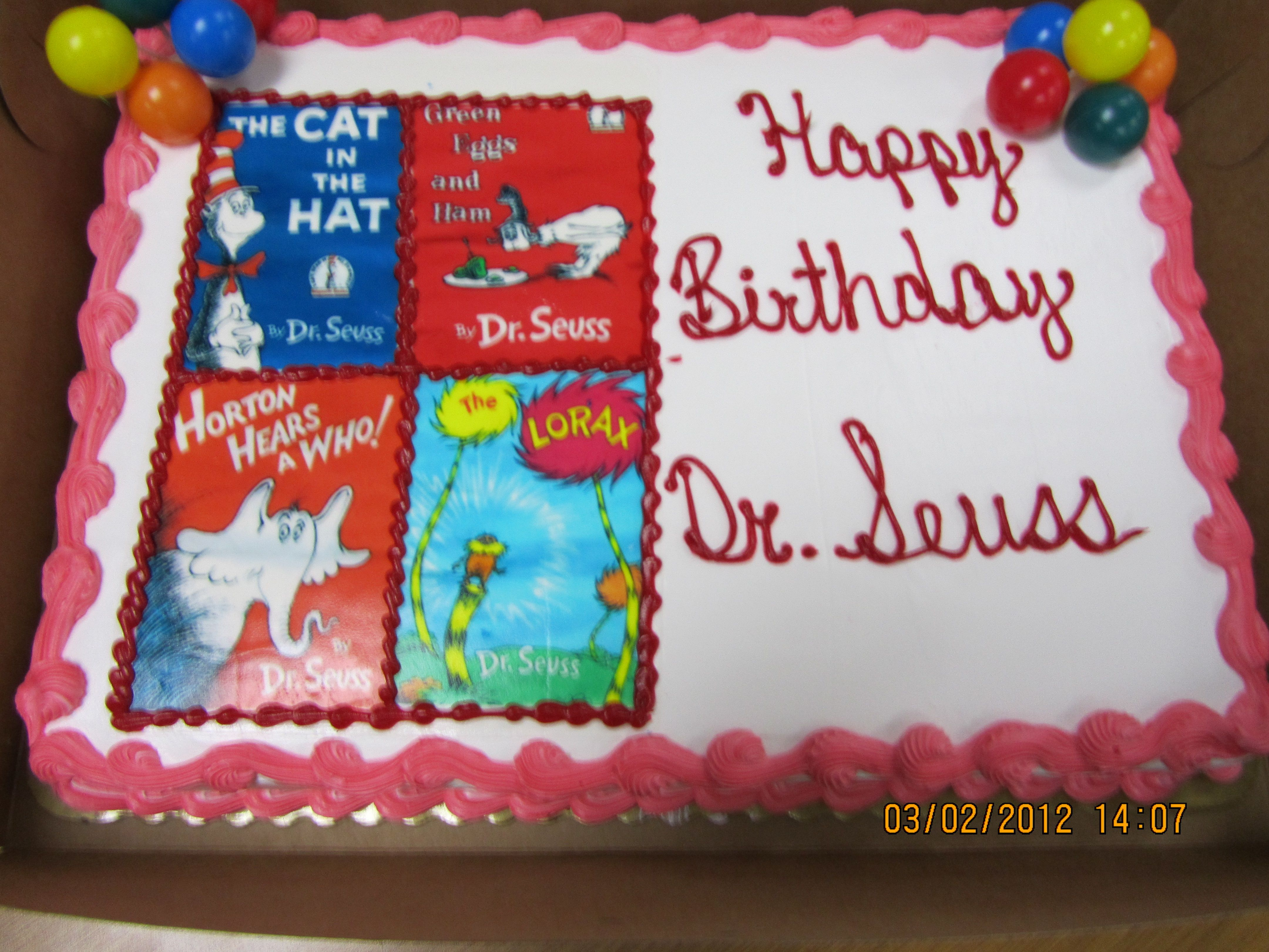 This is the cake my fabulous student teacher brought in for the class today!