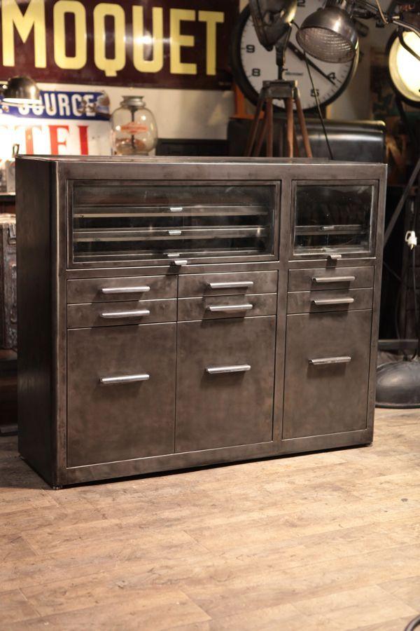 Meuble De Metier De Dentiste Ancien Industrial Style Furniture Vintage Industrial Decor Industrial Interiors