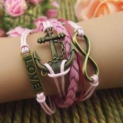 Elegant Romantic Cupid's Arrow Braided Retro Bracelet  ,check it out beautiful bracelets in this site!