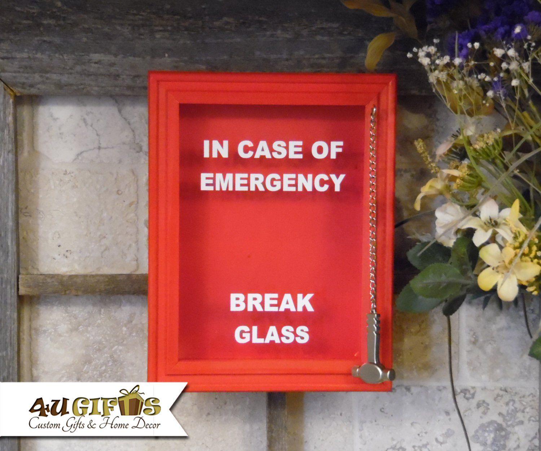 In Case Of Emergency Break Glass Diy Shadow Box Funny Gag