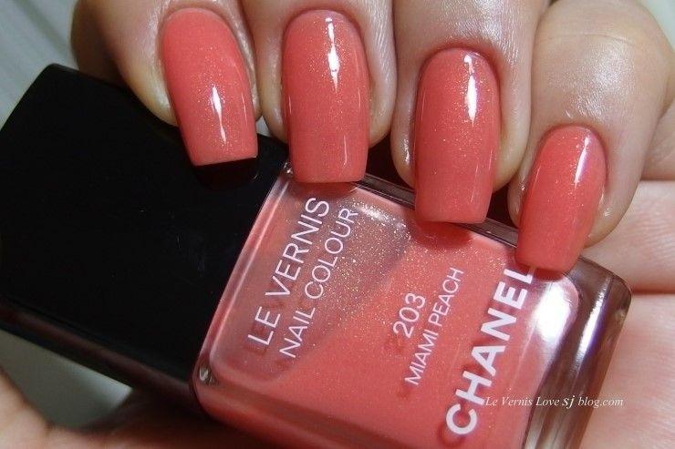 Chanel Le Vernis 203 MIAMI PEACH | Chanel Le Vernis | Pinterest ...