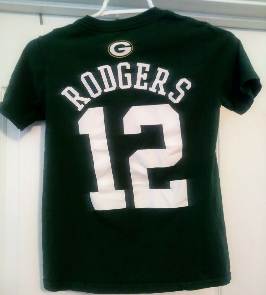 the latest cc1be f082e Green Bay Packers #12 Aaron Rodgers YOUTH NFL T-shirt size 8 ...