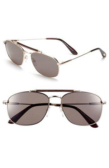 29bfa3670adf Tom Ford  Marlon  57mm Aviator Sunglasses