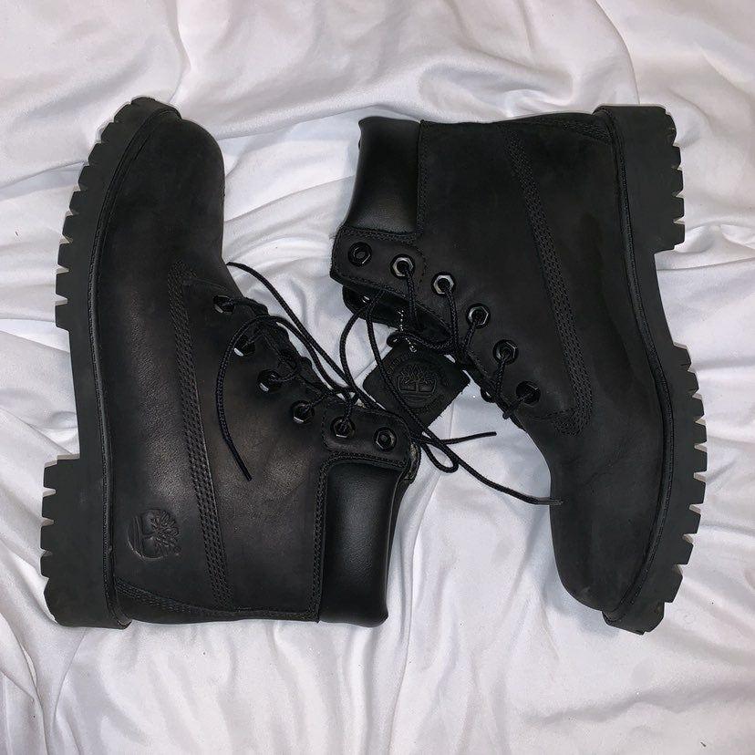 Boots, Timberland boots, Black timberlands