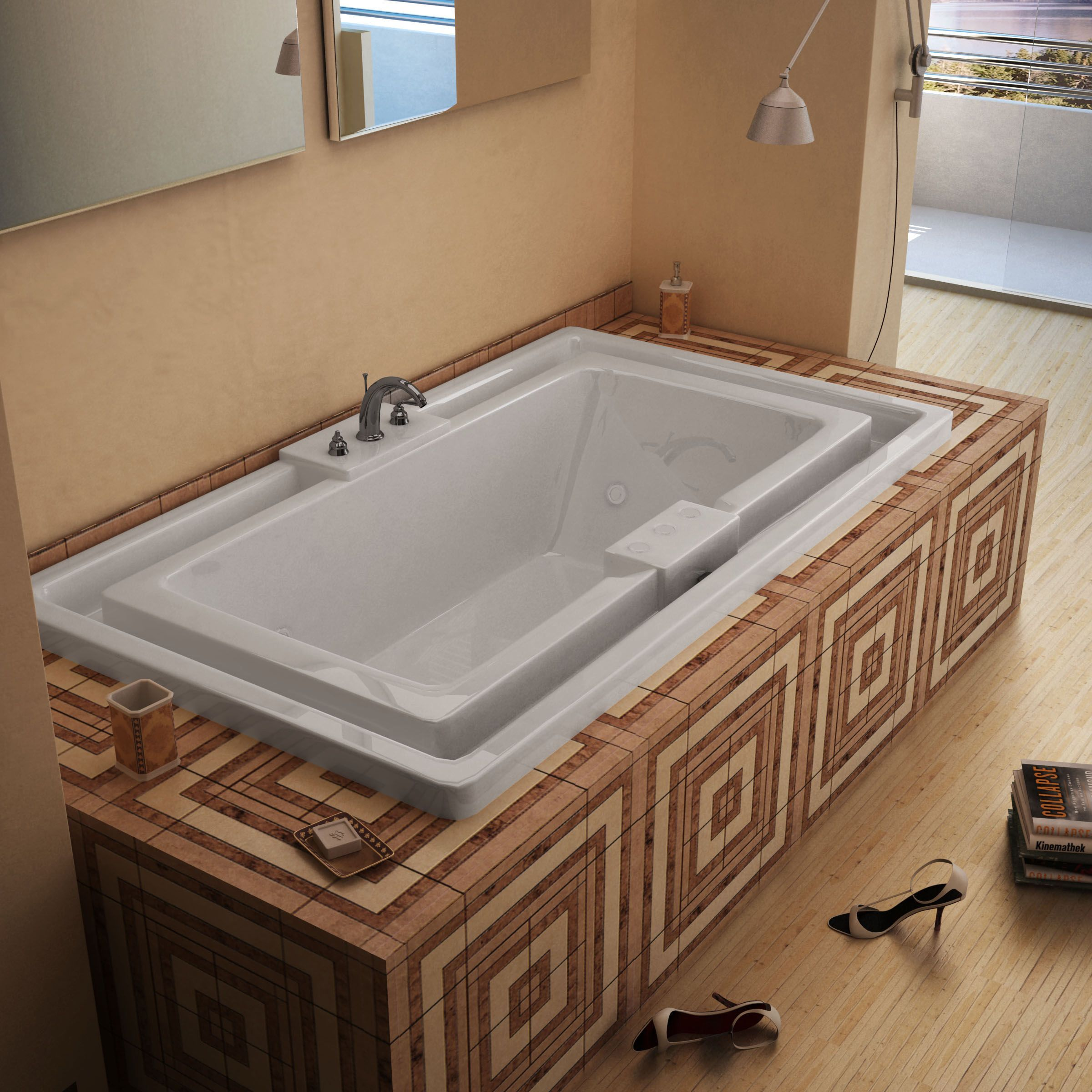 Mountain Home Evans 46 in. x 78 in. Acrylic Whirlpool Jetted Drop-in ...