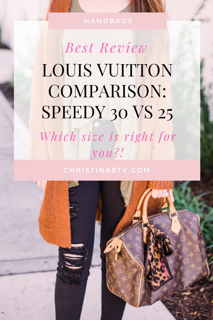 Louis Vuitton speedy 30 vs speedy 25. Which louis vuitton size is right for