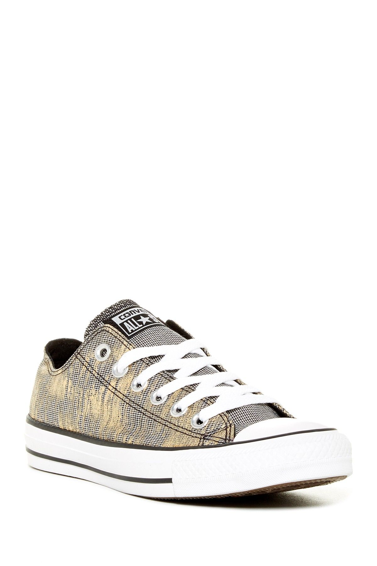 40583bc48820 Converse Chuck Taylor Metallic Brushed Houndstooth Sneaker by Converse on   HauteLook