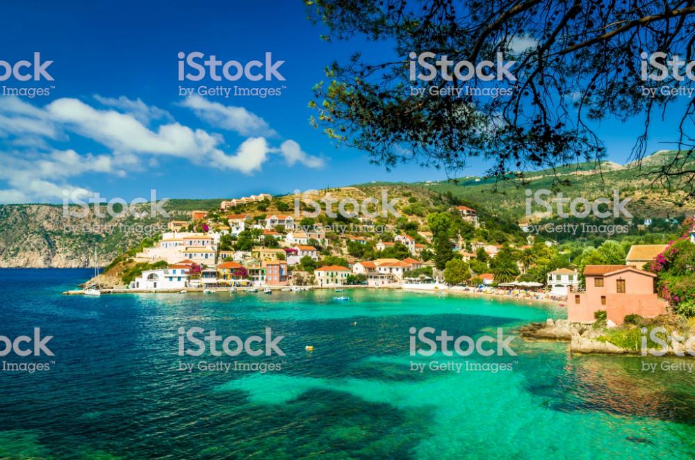 View Of Beautiful Bay Of Assos Village Kefalonia Island Greece Best Island Vacation Best East Coast Vacations Best Vacations