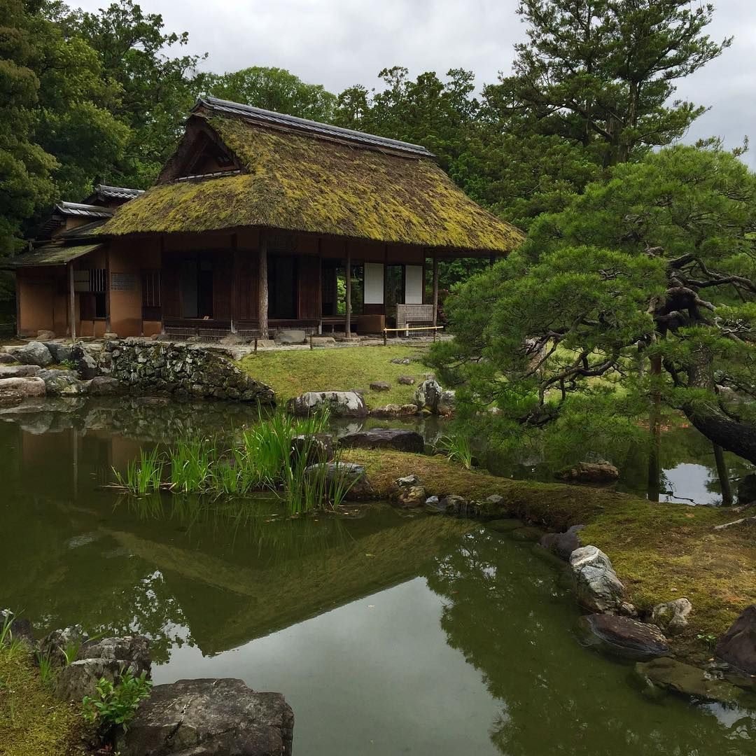桂離宮 #kyoto #garden #watersurface #oldhouse #green #japan #京都 ...
