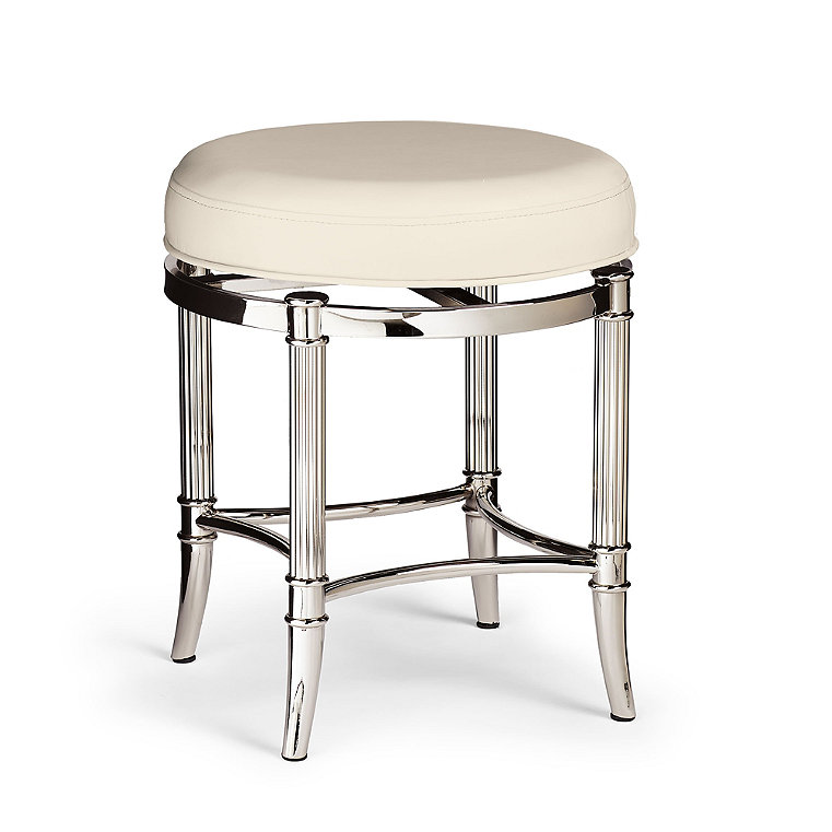 bailey swivel vanity stool | vanity stool, stool, shabby chic bathroom