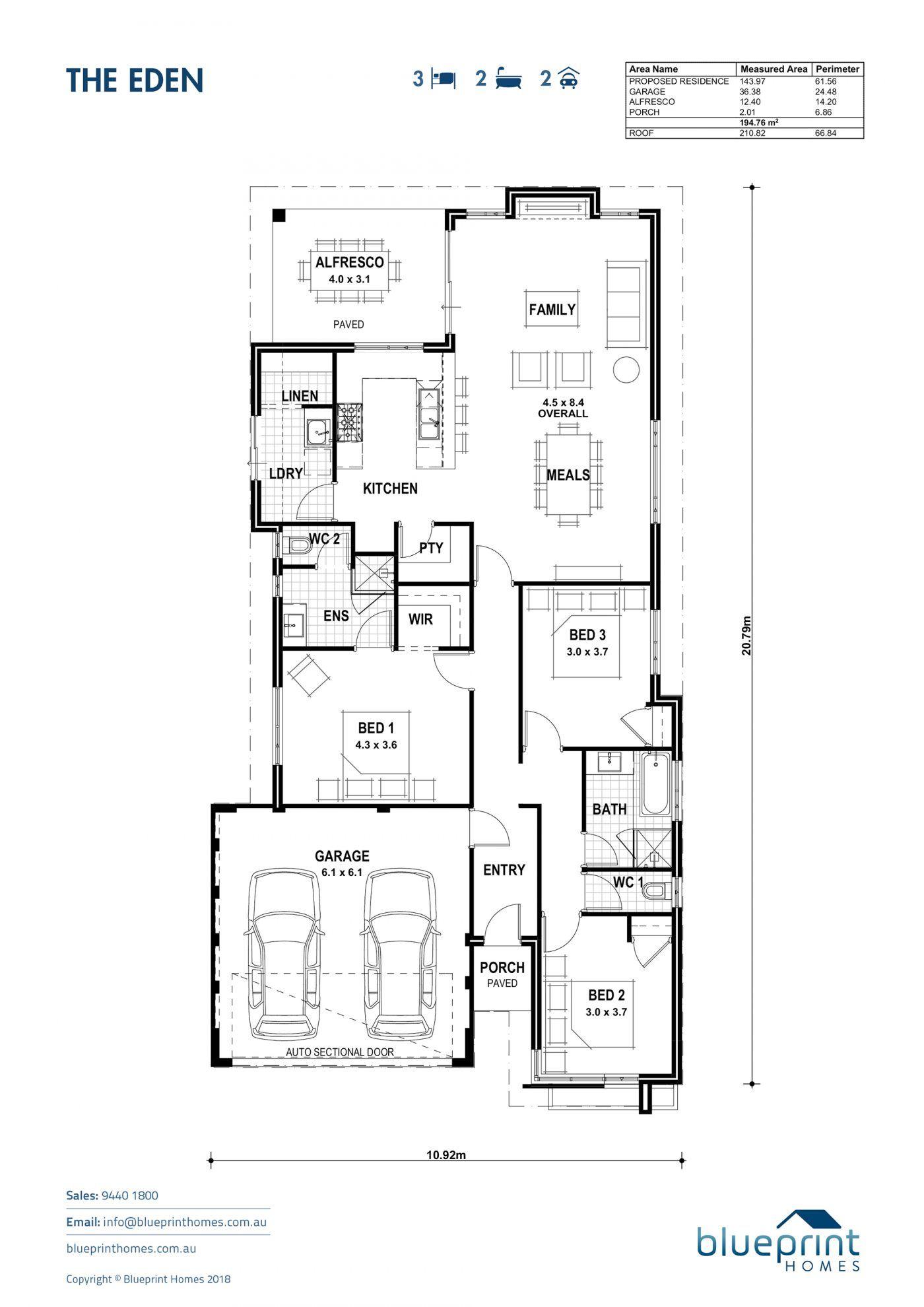 The Eden Perth Home Design Blueprint Homes House Design Bedroom House Plans Blueprints
